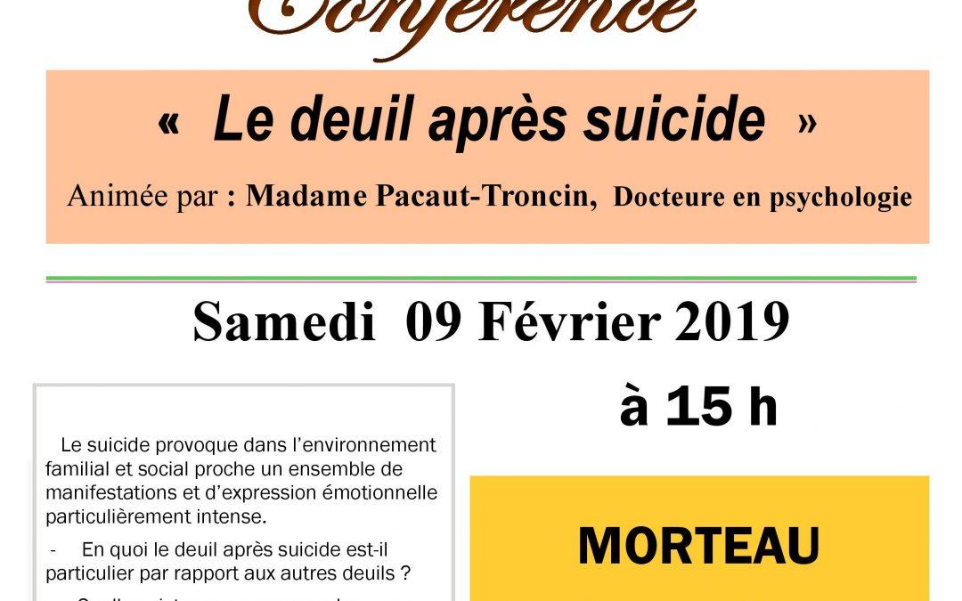 «Le deuil après suicide», JALMAV