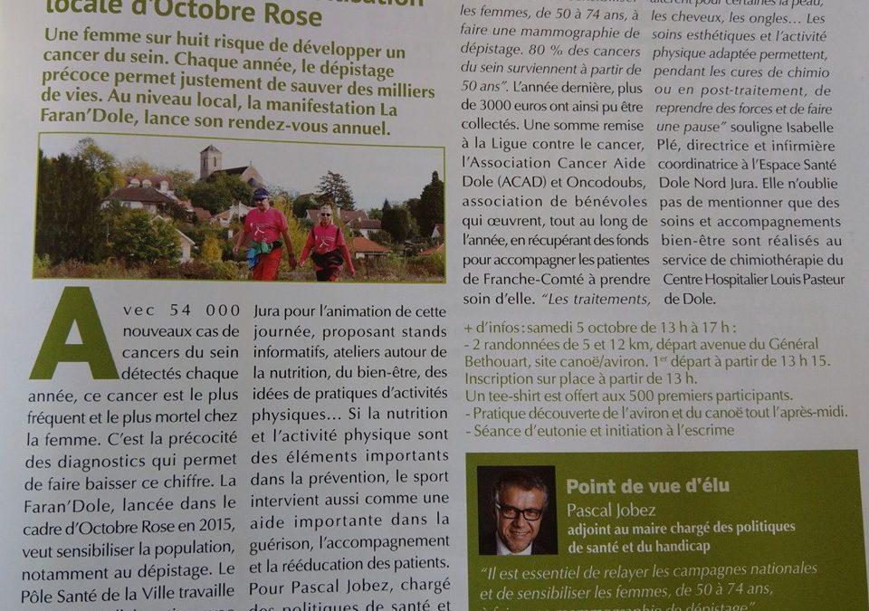 Faran'Dole , Magazine Dole Ville